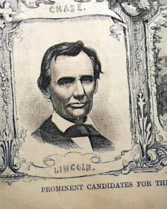 Newsprint of president Lincon