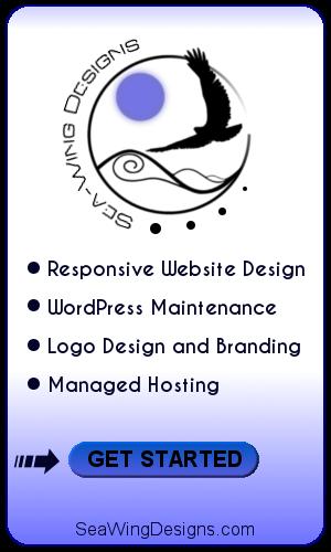 Sea Wing Designs - responsive website design, wordpress maintenance, logo design and branding, managed hosting - get started